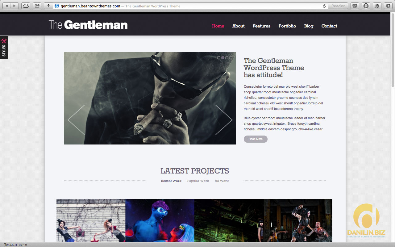 The Gentleman — Photography & Portfolio Theme